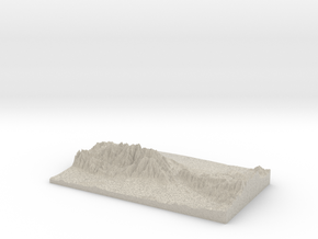 Model of Stone House Crossing Campground in Natural Sandstone