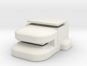 Heavy Bunker in White Natural Versatile Plastic