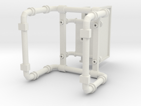 Industrial Smart Phone Stand in White Natural Versatile Plastic