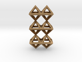 12 Pendant. Perfect Pyramid Structure. in Natural Brass