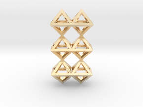 12 Pendant. Perfect Pyramid Structure. in 14K Yellow Gold