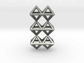 12 Pendant. Perfect Pyramid Structure. in Natural Silver