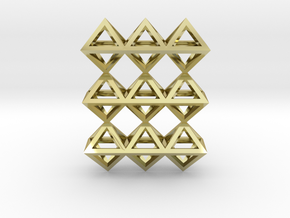 18 Pendant. Perfect Pyramid Structure. in 18k Gold Plated Brass