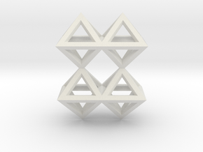 8 Pendant. Perfect Pyramid Structure. in White Natural Versatile Plastic