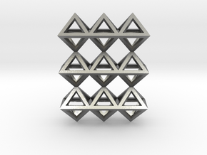 18 Pendant. Perfect Pyramid Structure. in Natural Silver