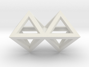 4 Pendant. Perfect Pyramid Structure. in White Natural Versatile Plastic