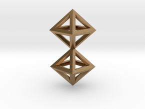 S4 Pendant. Perfect Pyramid Structure. in Natural Brass