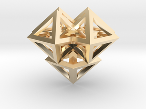 V8 Pendant. Perfect Pyramid Structure. in 14K Yellow Gold