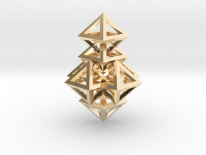 R14 Pendant. Perfect Pyramid Structure. in 14K Yellow Gold