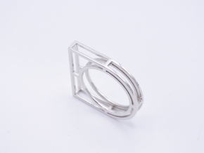 • b l o u •  Ring - Volume 4 - #1 in Rhodium Plated Brass: 7.5 / 55.5