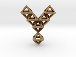 Y Letter Pendant. All Alphabet on demand. in Natural Brass