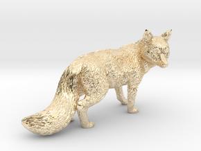 Fox statue in 14K Yellow Gold