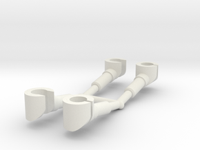 2 pairs customized hands for mini-figures.  in White Natural Versatile Plastic