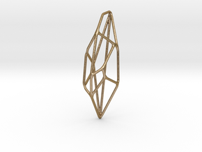 Lunar Pendant in Polished Gold Steel