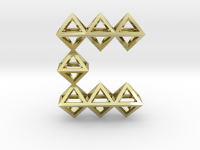 C Pendant in 18k Gold Plated Brass