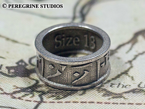 Ring - Forever in Polished Bronzed Silver Steel: 13 / 69
