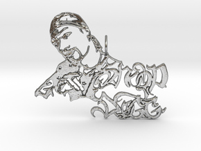 Snoop Doggy Dog Pendant in Natural Silver