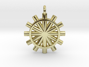 Suspension of the Sun  in 18k Gold Plated Brass