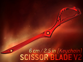 Scissor Blade v2 (Keychain) - Kill La Kill in Red Strong & Flexible Polished
