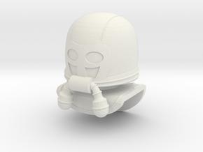 M.A.S.K Bruce Lego minifigure custom helmet in White Strong & Flexible