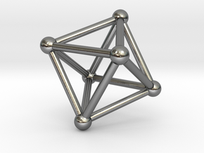 UNIVERSO Octahedron 28mm in Polished Silver