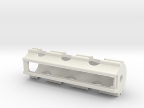 Piston V8 in White Natural Versatile Plastic: Small