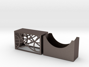 Elite Arches Business Card Holder by Spaid Designs in Polished Bronzed Silver Steel