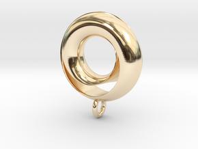 Negative Möbius Pendant in 14K Yellow Gold