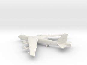 Boeing B-52 Stratofortress in White Natural Versatile Plastic: 1:400