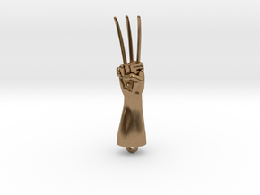Logan Wolverine claws pendant in Natural Brass