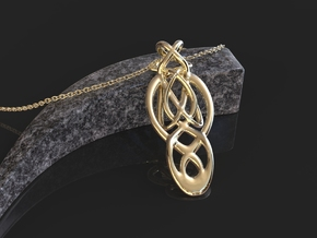 Infinity pendant knot in 18k Gold Plated Brass