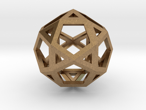 "IcosiDodecahedron 1.5"" in Natural Brass"