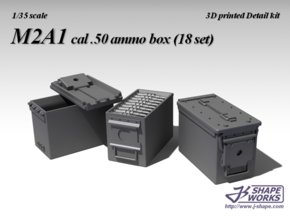1/30 M2A1 cal.50 Ammo box (18 set) in Frosted Ultra Detail