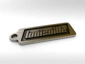 Louisville, Kentucky Keychain in Polished Bronze Steel