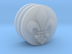 Fleur de Lis Icons 17.5mm (x3) in Smooth Fine Detail Plastic