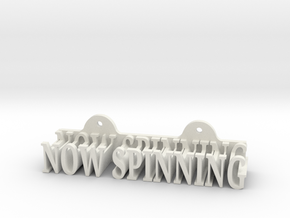 Now Spinning - Vinyl sleeve wall mount in White Natural Versatile Plastic