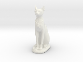 Printle Thing Egyptian Godcat - 1/24 in White Natural Versatile Plastic
