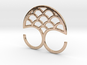 Mermaid double ring in 14k Rose Gold