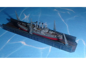 Floating Drydock old Style 1/2400 in Smooth Fine Detail Plastic
