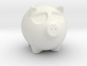 Annoyed Porky in White Natural Versatile Plastic