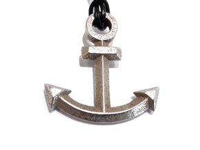 Anchor Pendant (From $13) in Polished Bronzed Silver Steel