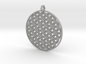 Flower Of Life Pendant (1 Loop) in Aluminum