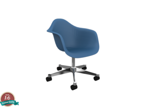 Miniature Eames PACC - Charles Eames in White Strong & Flexible