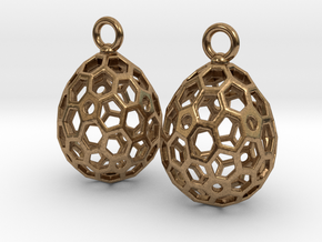 Sweet Egg Drop Earrings in Raw Brass