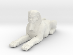 Printle Thing Egyptian Statue 1/24 in White Natural Versatile Plastic