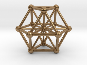 UNIVERSO VE with twelve rays in Natural Brass