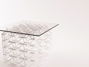 Little Table Structure 414131 in White Natural Versatile Plastic