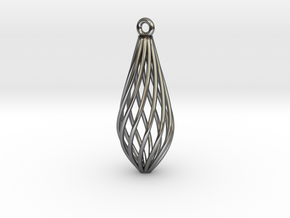 Spiral Pendant in Fine Detail Polished Silver