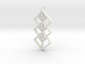 Space Pendant  in White Natural Versatile Plastic