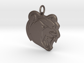Leetonia Pendant in Polished Bronzed Silver Steel